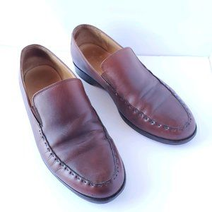 Martin Dingman   Brown Leather Slip-On Loafers 9.5